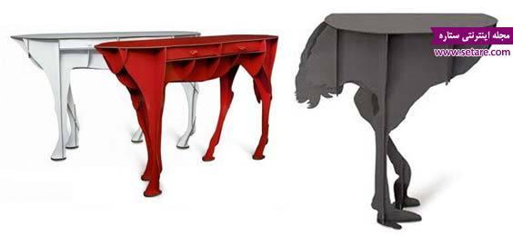 میز شترمرغی و میز اسب ایستاده