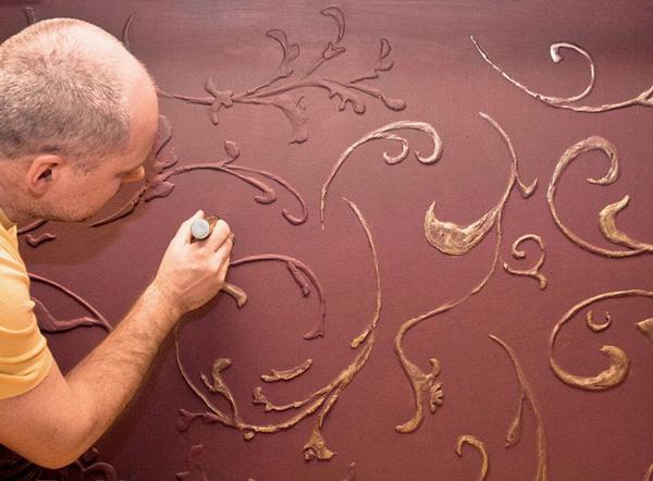 آموزش پتینه روی دیوار با خمیر