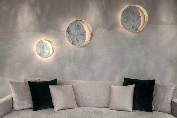 مدل چراغ دیواری دکوراتیو طرح ماه