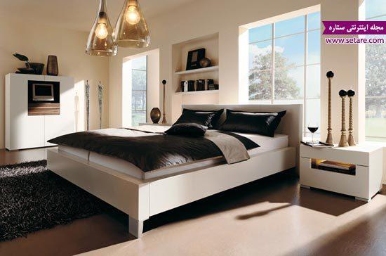 عکس تختخواب - تخت خواب دو نفره - مدل دسته خواب