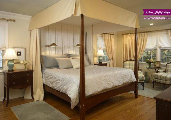 تخت خواب عروس - مدل تختخواب عروس - عکس تخت دو نفره سایبان دار