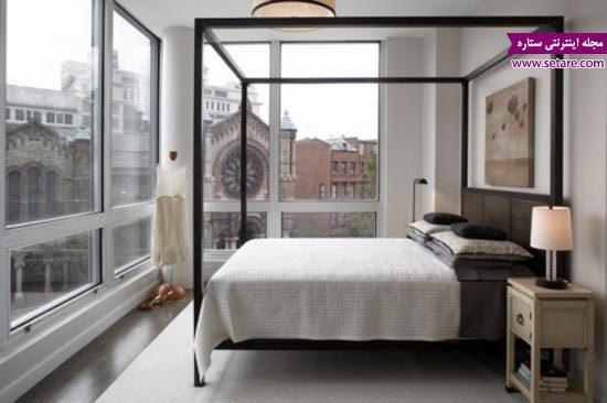 مدل تخت خواب سایبان دار - تخت خواب دو نفره سایبان دار - عکس تخت دو نفره