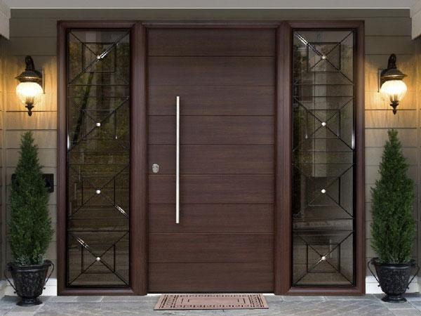 مدل درب ورودی ساختمان - در هیبریدی