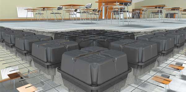 مقایسه سقف یوبوت با تیرچه بلوک، استفاده از این بلوکها و بتن ریزی نهایتا یک سطح صاف و یک دست میدهد که نیاز به هیچ اقدام دیگری ندارد.