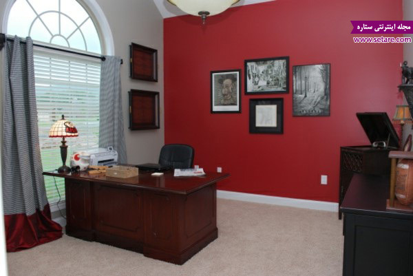 دکوراسیون اتاق کار- رنگ اتاق کار- رنگ بندی- محیط کار مناسب