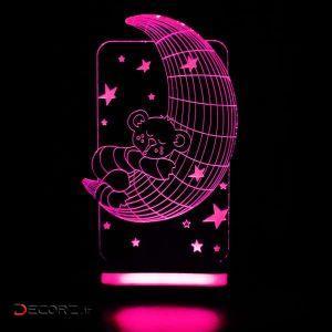 چراغ خواب بتابی طرح خرس و ماه کد 3025