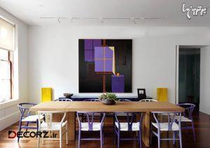 استفاده از رنگ بنفش در دکوراسیون داخلی منزل