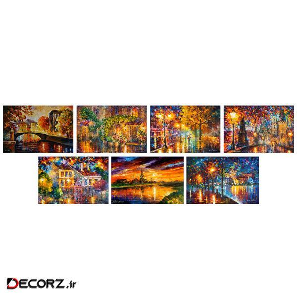 تابلو شاسی طرح آثار لئونید آفرمو کد SET146 مجموعه 7 عددی