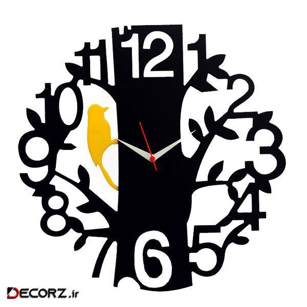 ساعت دیواری طرح درخت و دارکوب کد KC-138