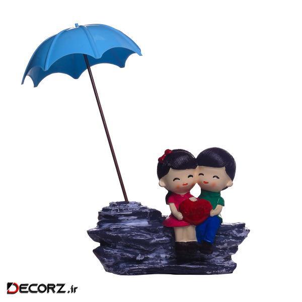 مجسمه لیلپار طرح روز بارانی مدل DGN-0026