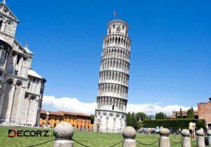 درباره معماری برج پیزا و علت کجشدن
