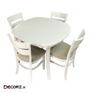میز و صندلی ناهار خوری اسپرسان چوب کد Sm65