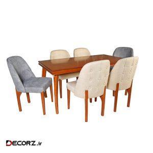 میز و صندلی ناهار خوری چوبکو مدل 675