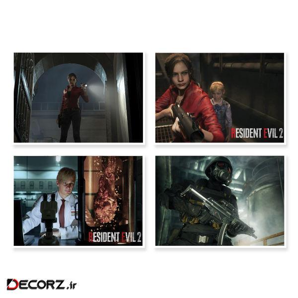 پوستر طرح Resident Evil 2 کد A-1641 مجموعه 4 عددی