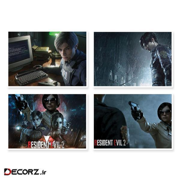 پوستر طرح Resident Evil 2 کد A-1646 مجموعه 4 عددی
