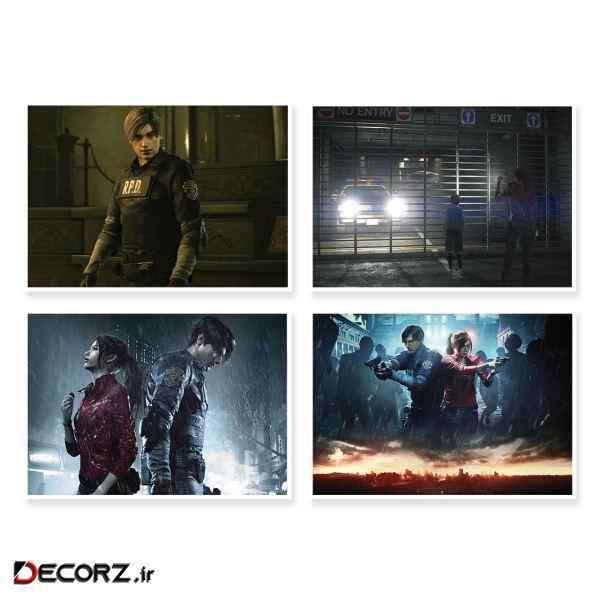 پوستر طرح Resident Evil 2 کد A-1650 مجموعه 4 عددی