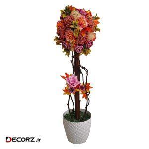 گلدان به همراه گل مصنوعی دکوفلاورز مدل 556