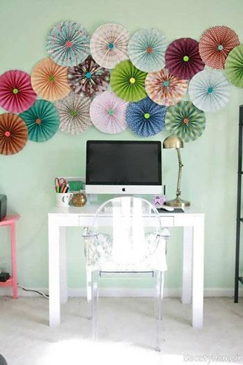 تزیین دیوار با کاغذ رنگی و طرح های خلاقانه ای که باید ببینید