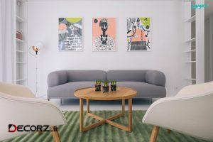 آپارتمانی مدرن و هنرمندانه با الهام از باغ تابستانی