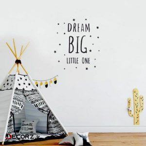 استیکر چوبی رومادون طرح dream big little کد 4008 مجموعه 38 عددی
