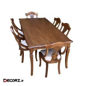 میز و صندلی ناهار خوری اسپرسان چوب کد Sm61
