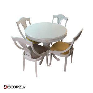 میز و صندلی ناهار خوری اسپرسان چوب کد Sm63