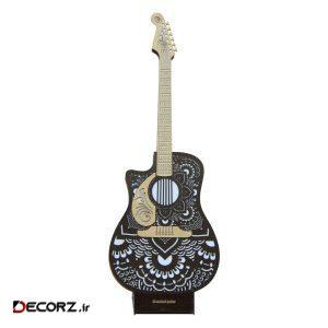 آباژور چوبی کارا دیزاین مدل گیتار سایز 100