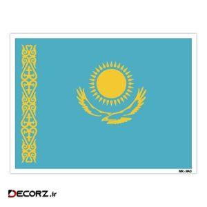 استیکر مستر راد طرح پرچم قزاقستان مدل HSE 135