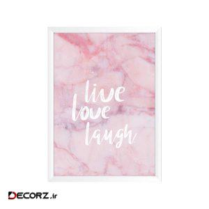تابلو وینا مدل Live love laugh