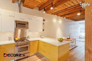 ایده های دکوراسیون آشپزخانه با رنگ های درخشان