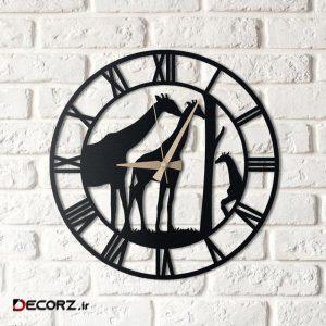 ساعت دیواری آتینو طرح زرافه