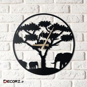 ساعت دیواری آتینو طرح فیل