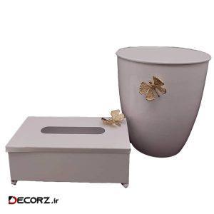 ست سطل و جای دستمال کاغذی مدل پروانه 1370