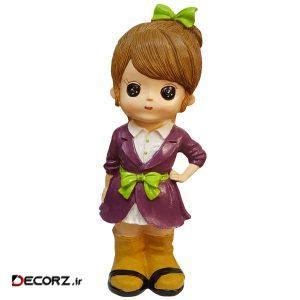 مجسمه لیلپار طرح دختر خوش لباس مدل HOA-1093