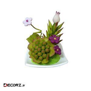 گل مصنوعی مدل لاله و کاکتوس کد03