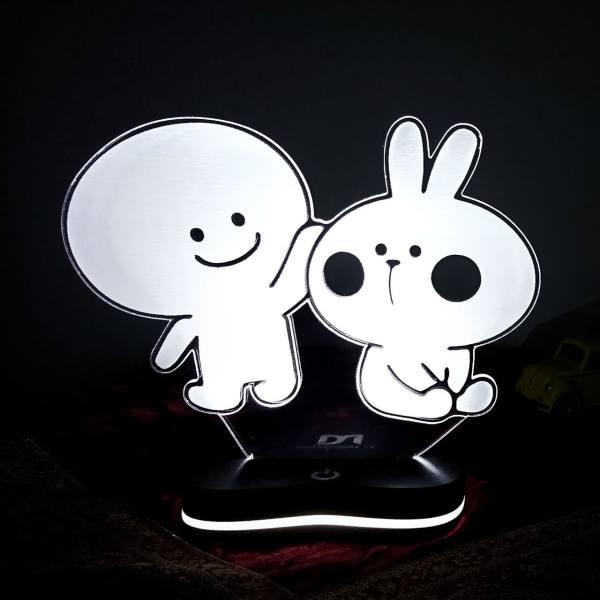 چراغ خواب سه بعدی گالری دکوماس طرح خرگوش بازیگوش و کله گردالی 4 کد DMS129