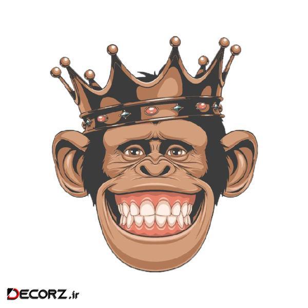 استیکر طرح میمون کد 1755