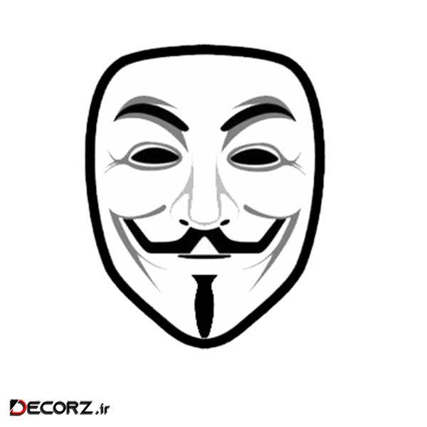 استیکر طرح Anymus Mask کد 1742