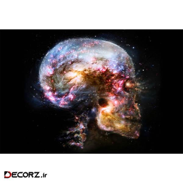 تابلو شاسی طرح کهکشان و جمجمه انسان مدل T1213