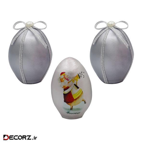تخم مرغ تزیینی مدل عمو نوروز کد mp609 مجموعه 3 عددی