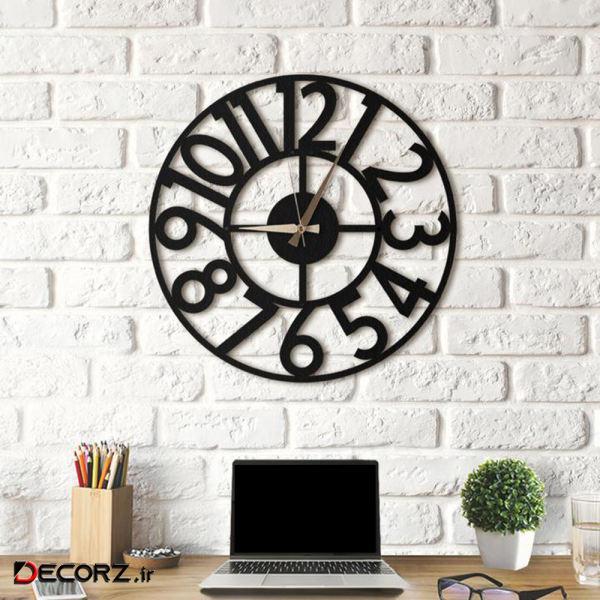 ساعت دکوراتیو هوم لوکس طرح روشا سایز XL