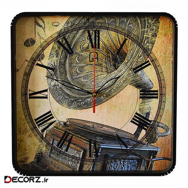 ساعت دیواری گلدن هوس مدل Gramaphone