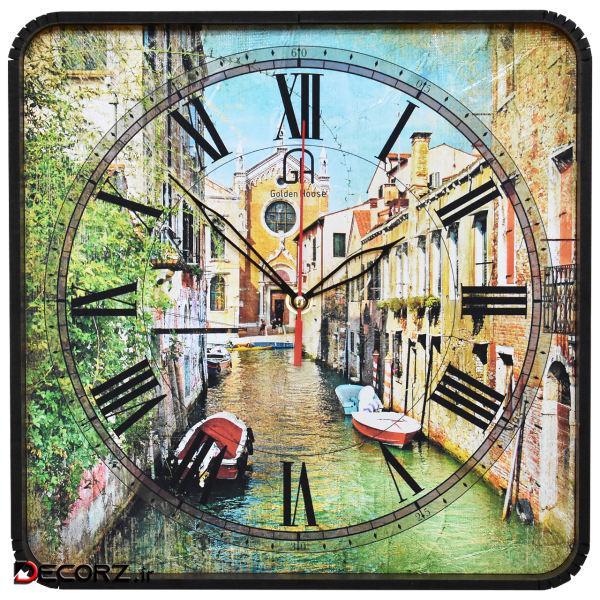 ساعت دیواری گلدن هوس مدل Veniz