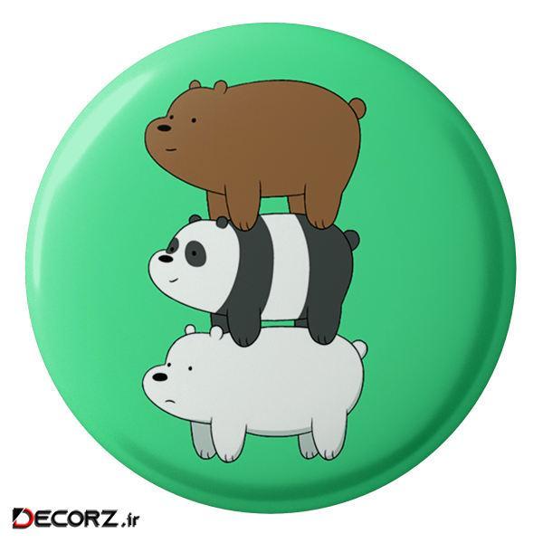 مگنت طرح انیمیشن سه خرس کله پوک مدل S1459