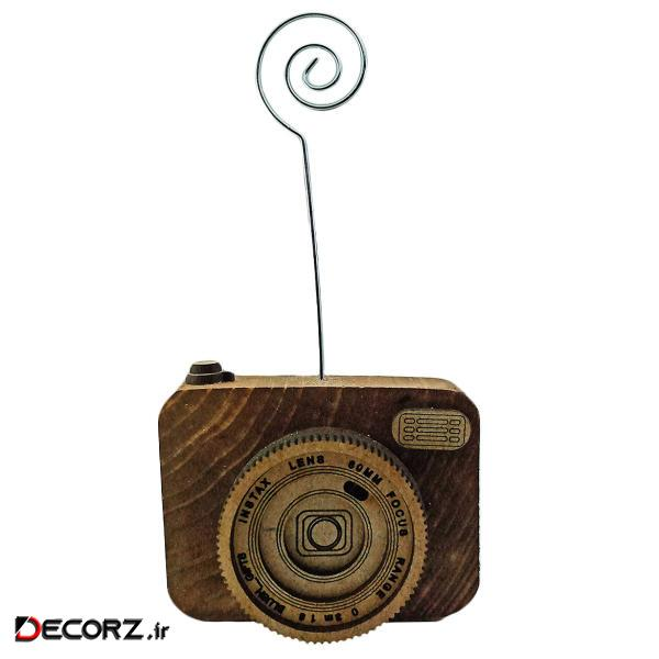 پایه نگهدارنده عکس طرح دوربین کد D-WOODI