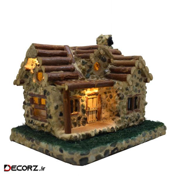 چراغ خواب طرح خانه گلی کد 4