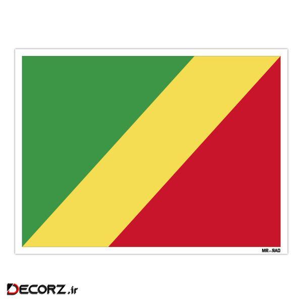 استیکر مستر راد طرح جمهوری کنگو مدل HSE 063