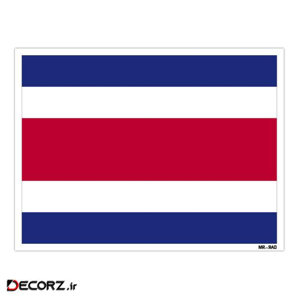استیکر مستر راد طرح پرچم کاستاریکا مدل HSE 065