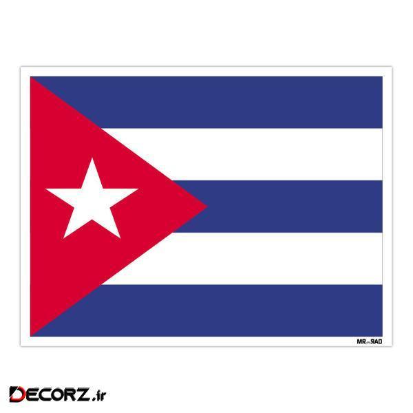 استیکر مستر راد طرح پرچم کوبا مدل HSE 069