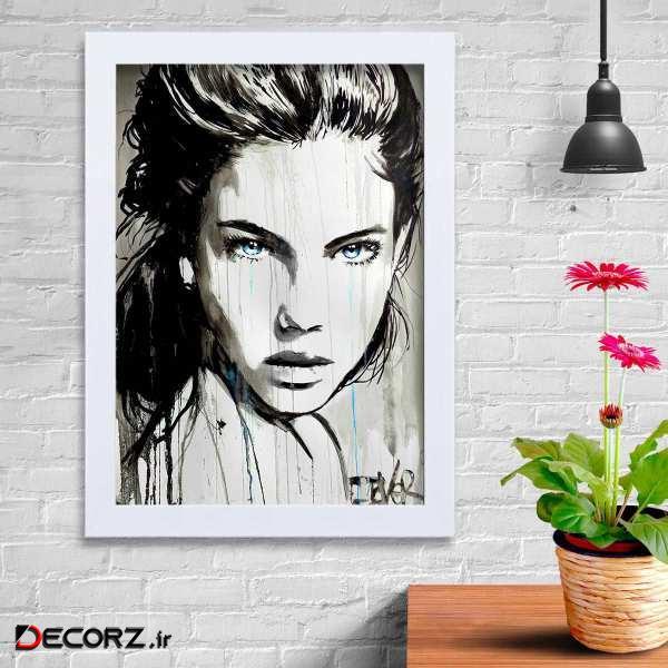 تابلو   گالری استاربوی طرح دختر مدل هنری KL146
